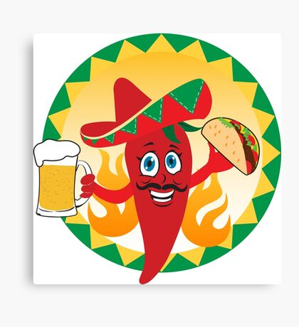 Mexican red chili pepper Canvas Print