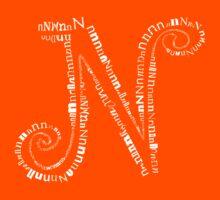 Typographic N letter Kids Tee