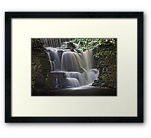 River Clydach waterfalls in HDR Framed Print