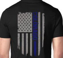 Colorado Thin Blue Line American Flag T-shirt Unisex T-Shirt