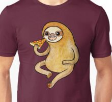 Sloth Eating Pizza Unisex T-Shirt