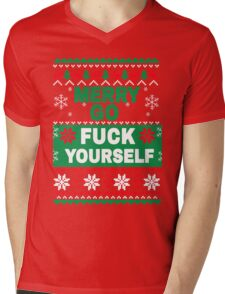 Merry Go F*ck Yourself - Funny Holiday Mens V-Neck T-Shirt