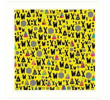 A.A. Y. ix iv Art Print
