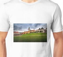 Main square and castle in Kremnica Unisex T-Shirt