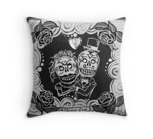 Eternal Love Skelly Couple Throw Pillow