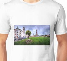 Panorama view of the Central Square Stefánikovo Námestie of Kremnica Unisex T-Shirt