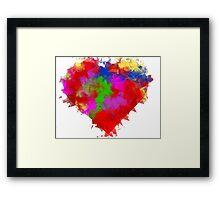 Cubism Heart Framed Print