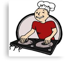 BeatChef in Red Canvas Print
