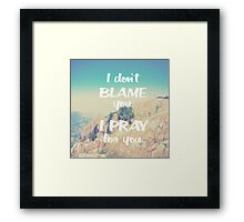 The world would be better Framed Print