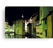 Annecy by night Canvas Print