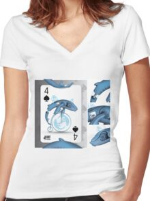 WhaloBike / Cards for my arts Women's Fitted V-Neck T-Shirt