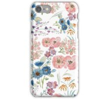 Watercolor field floral hand paint iPhone Case/Skin