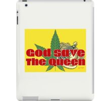 God Save The Queen - Weed Clothing and Gifts Design iPad Case/Skin