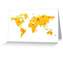 Cheese World Map Prins, T-Shirts,  iPone Case iPad Case / Samsung Galaxy Case / Mug  Greeting Card