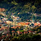 Beautiful view of ancient Kremnica from the observation tower by Zoltán Duray