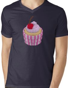 Cherry cupcake Mens V-Neck T-Shirt