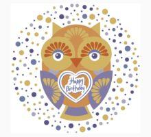 Happy Birthday Owl Baby Tee
