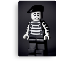 Sad Lego Mime Canvas Print