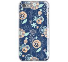 Blooms Between_Blue iPhone Case/Skin