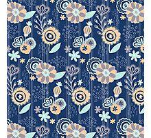 Blooms Between_Blue Photographic Print