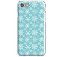 White snowflakes iPhone Case/Skin