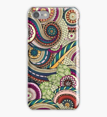 Abstract doodle floral pattern iPhone Case/Skin