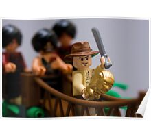 Lego Indy on the rope bridge Poster