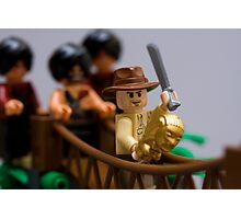 Lego Indy on the rope bridge Photographic Print
