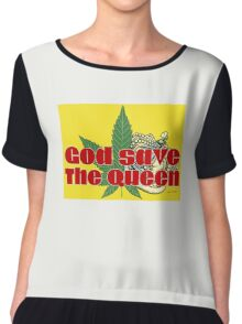 God Save The Queen - Weed Clothing and Gifts Design Chiffon Top