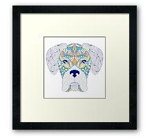 head of dog  Framed Print