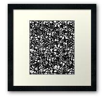Woodcut Floral Framed Print