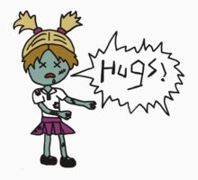 Zombies Just Want Hugs (girl) Kids Clothes