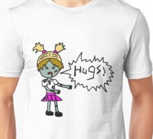Zombies Just Want Hugs (girl) Unisex T-Shirt
