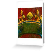 Ancient Wood Texture with Real Crown Greeting Card
