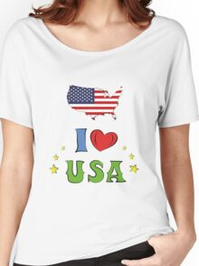 I love the united states of america Women's Relaxed Fit T-Shirt