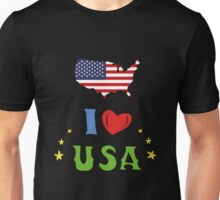 I love the united states of america Unisex T-Shirt