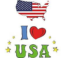 I love the united states of america Photographic Print
