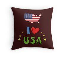 I love the united states of america Throw Pillow