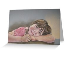 Portrait of Shaylee Greeting Card