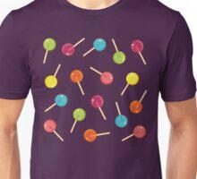 Lollipop Pattern Pink Unisex T-Shirt