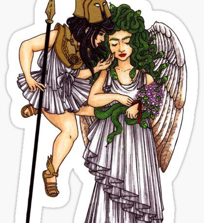 Athena &  Medusa Sticker