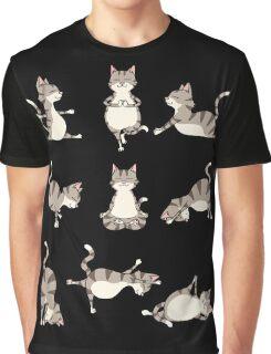 Funny Yoga Cat Position Meditation Relax Hatha Basic T-Shirt Graphic T-Shirt