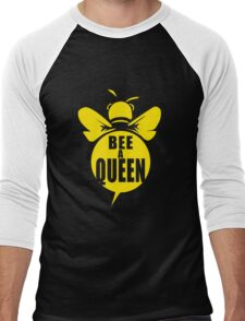 Bee A Queen Cool Bee Graphic Typo Design Men's Baseball ¾ T-Shirt