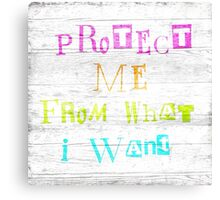 Protect me Canvas Print