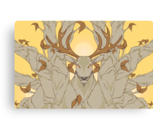 stag in nature Canvas Print