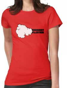 Funny Joking Farting Cartoon Design  Womens Fitted T-Shirt