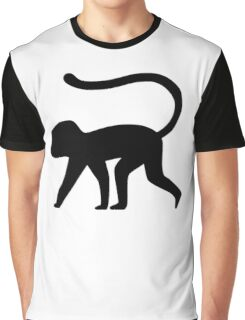Monkey Silhouette Graphic T-Shirt