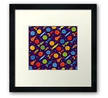 Rockets in space Framed Print