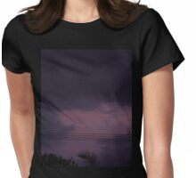 Bad Sky at Night by axinite/ \ Womens Fitted T-Shirt