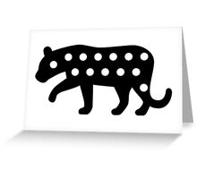 Leopard Silhouette Greeting Card